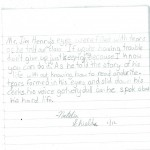 In a Fisherman's Language- student's letter